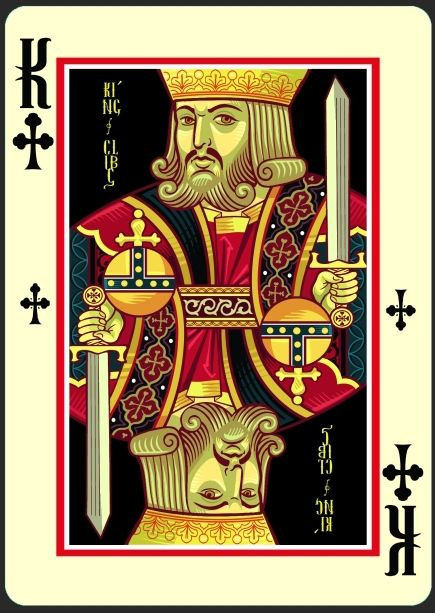 icons playing cards imperial edition king of clubs