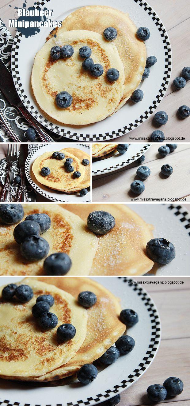 Blaubeer Minipancakes