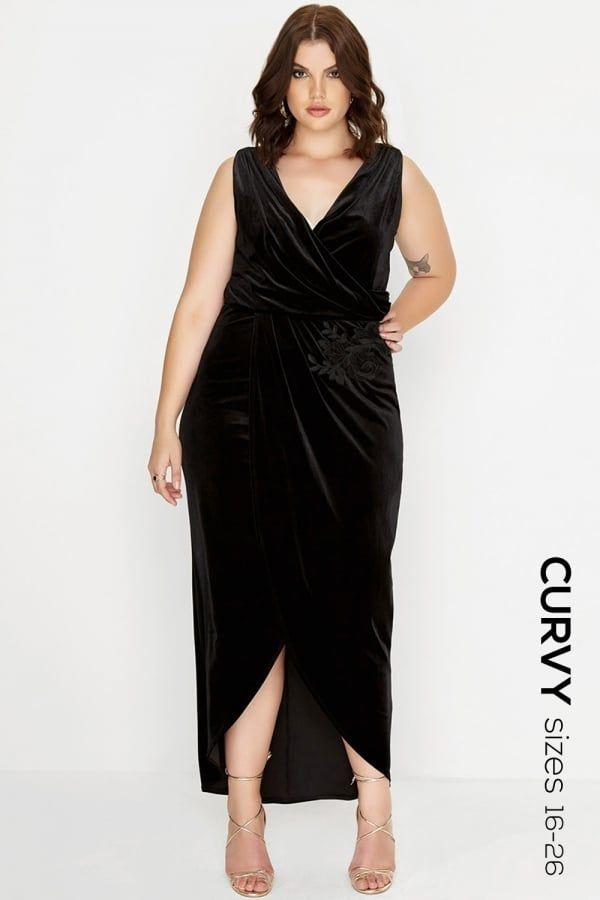 Black Curvy Maxi Dresses