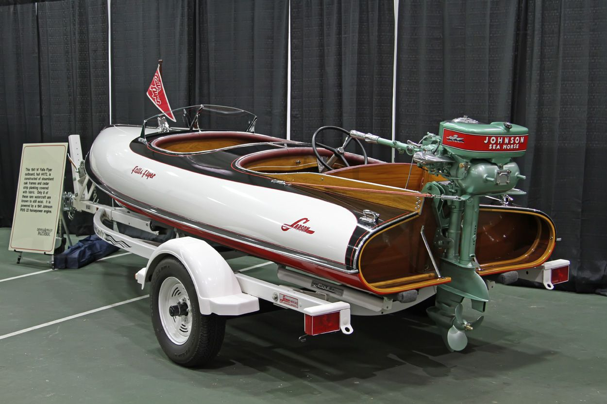 A 1941 larson falls flyer with 41 johnson 22hp outboard