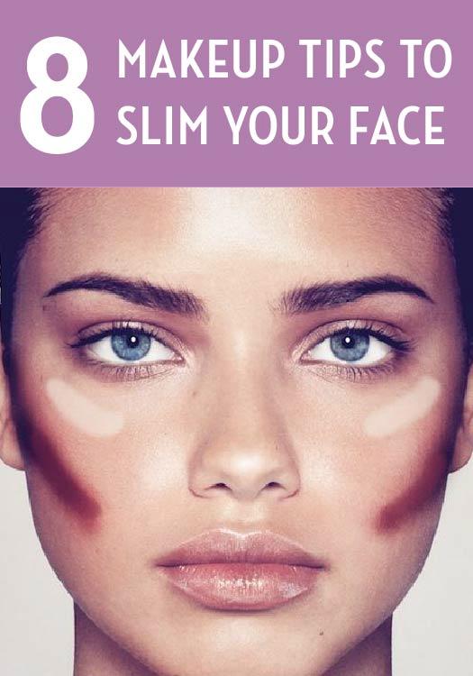 8 Makeup Tricks to Slim Your Face Makeup, Contour makeup