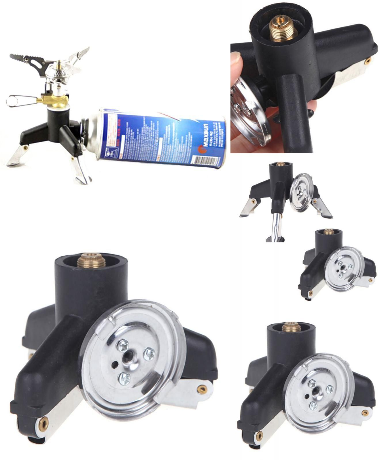 Outdoor Stoves Shop For Cheap Aluminum Alloy Portable Outdoor Camping Gas Stove Adapter Three-leg Transfer Head Adaptor