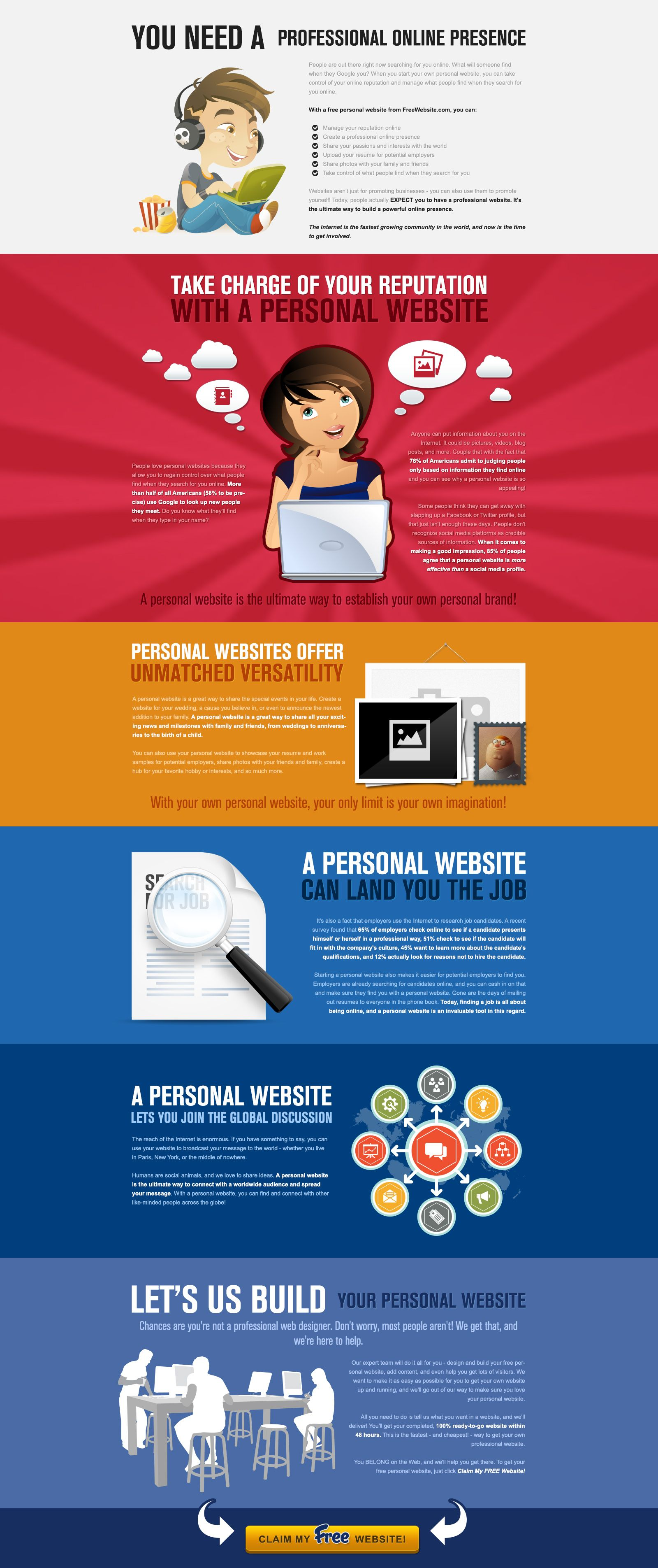 Build An Online Presence With A Personal Website Personal Marketing Lettering Design Sales Letter