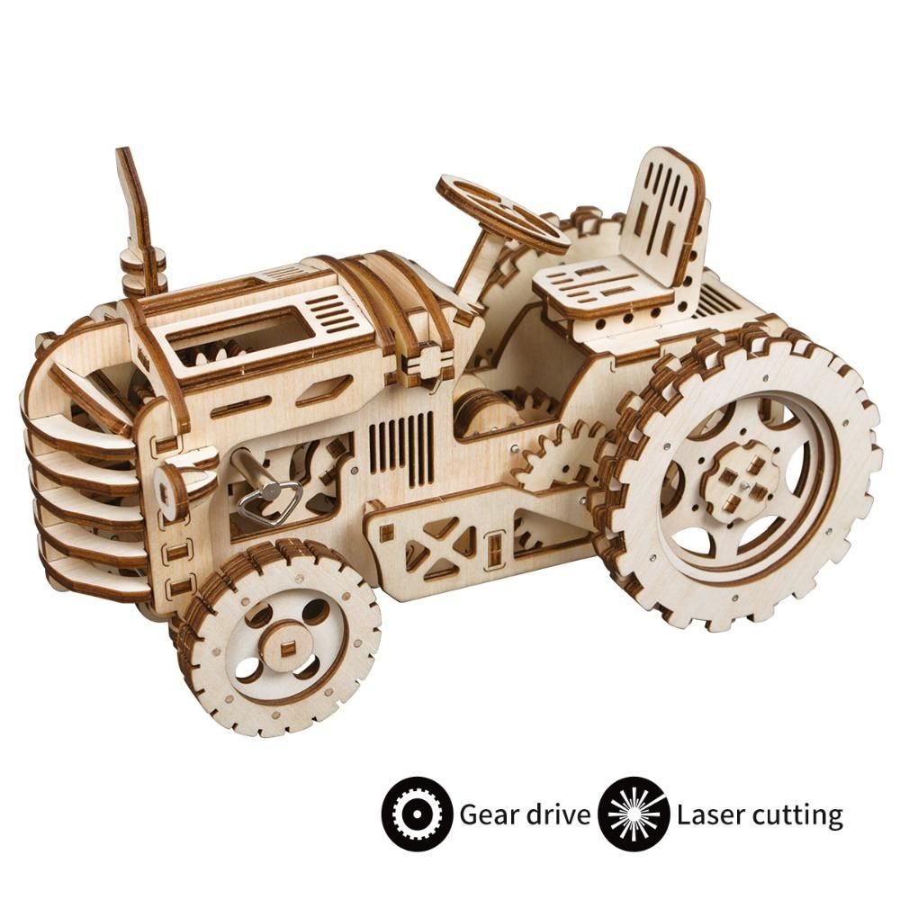 Ugears 3D Wooden Mechanical Construction Model Kits for Kids and Adults Gift DIY