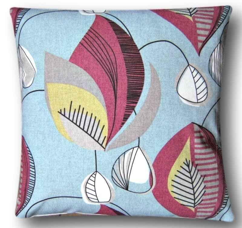 "Cushion Cover Handmade With Starlight Summer Clarke & Clarke Fabric 16"" Blue"