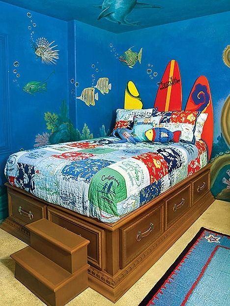 Habitaciones infantiles tem ticas habitaci n marina para mis nietos en 2019 decoracion - Habitaciones infantiles tematicas ...