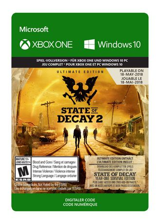 Microsoft Xbox One State Of Decay 2 Ultimate Edition Pre