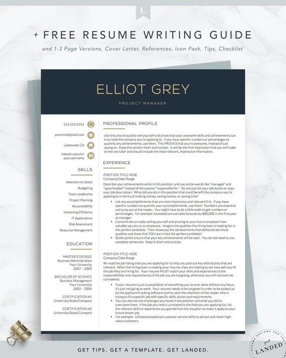 Professional Resume Template Word And Pages Resume Cover Etsy Resume Template Professional Modern Resume Template Resume Template Word