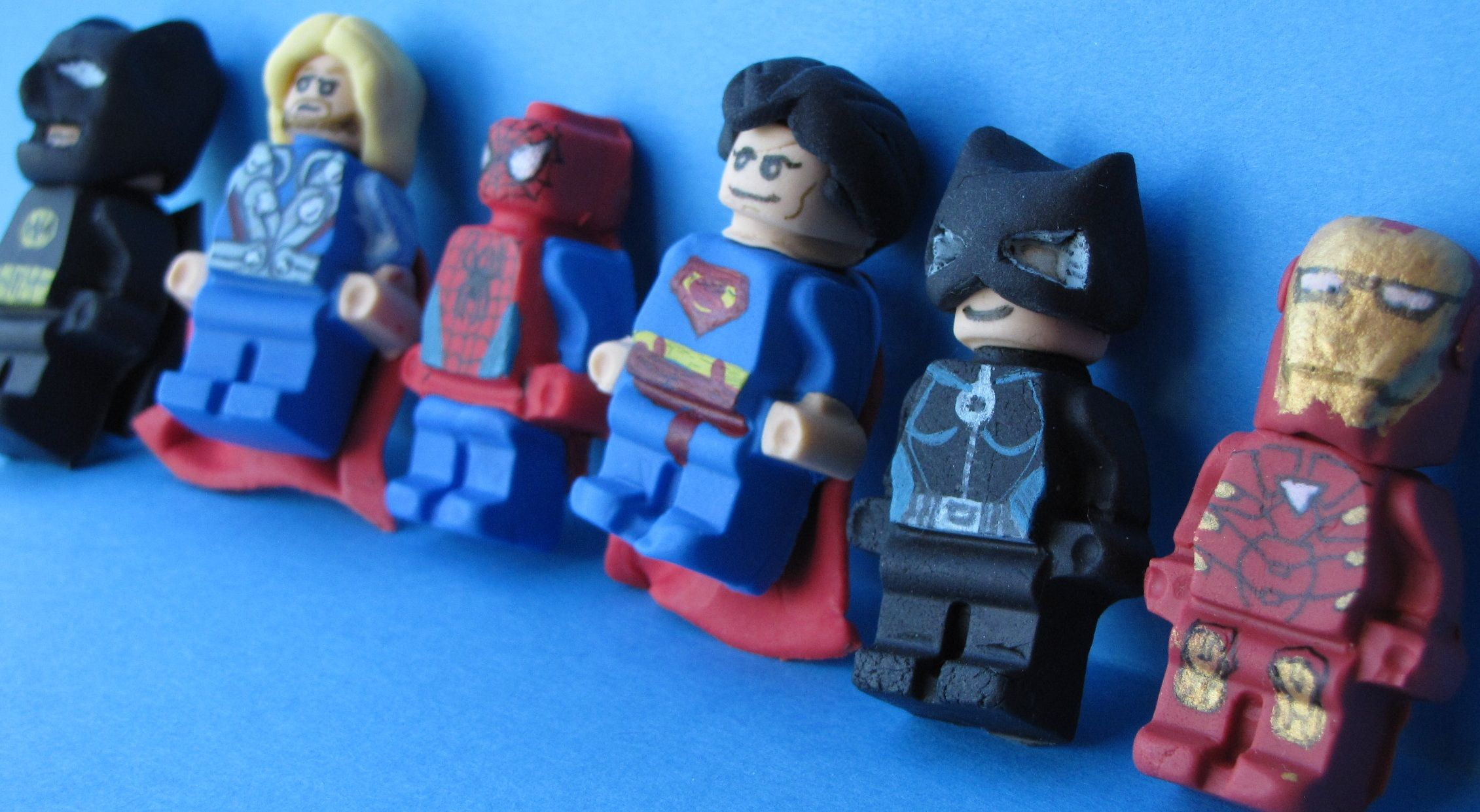 Lego Heros Fondant cupcake toppers