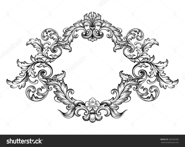 Antique Ceramic Tile Vintage Floral Flower Leaf Rococo Leaf Old Baroque