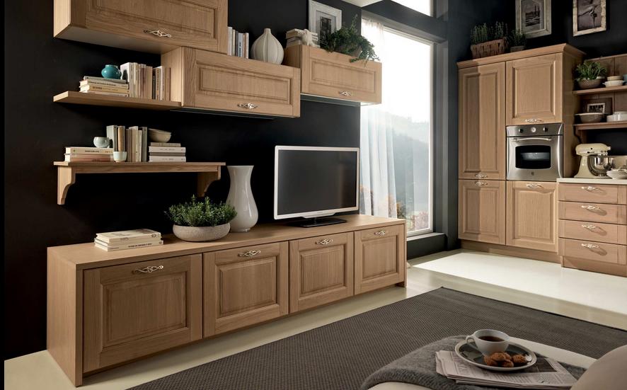 Cucina Stosa modello Bolgheri in finitura rovere naturale ...