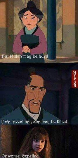 Disney Memes Mulan Meets Hermoine Granger The Nerd