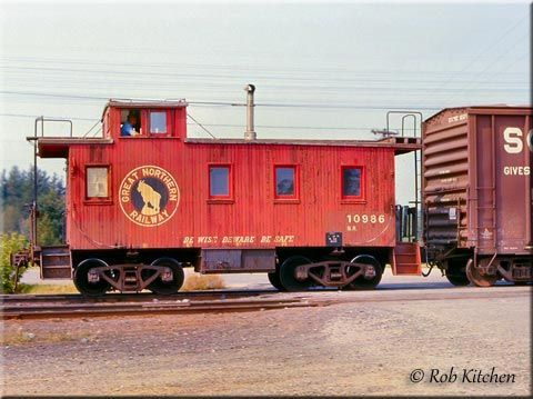 Freight Cars Great Northern Railroad Caboose Train