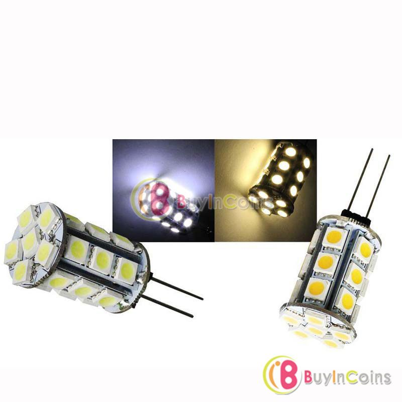 5 X G4 27 5050 Smd Led Car Reading Lamp Bulb Spotlight Pure Warm White Light Dc12v Lamp Bulb Reading Lamp Pure Products