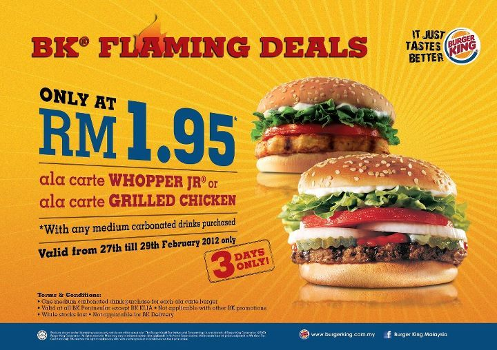 Whooping Deal from burger king!!!