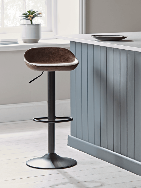 Faux Leather Counter Stool Brown Leather Counter Stools Counter Stools Modern Bar Stools