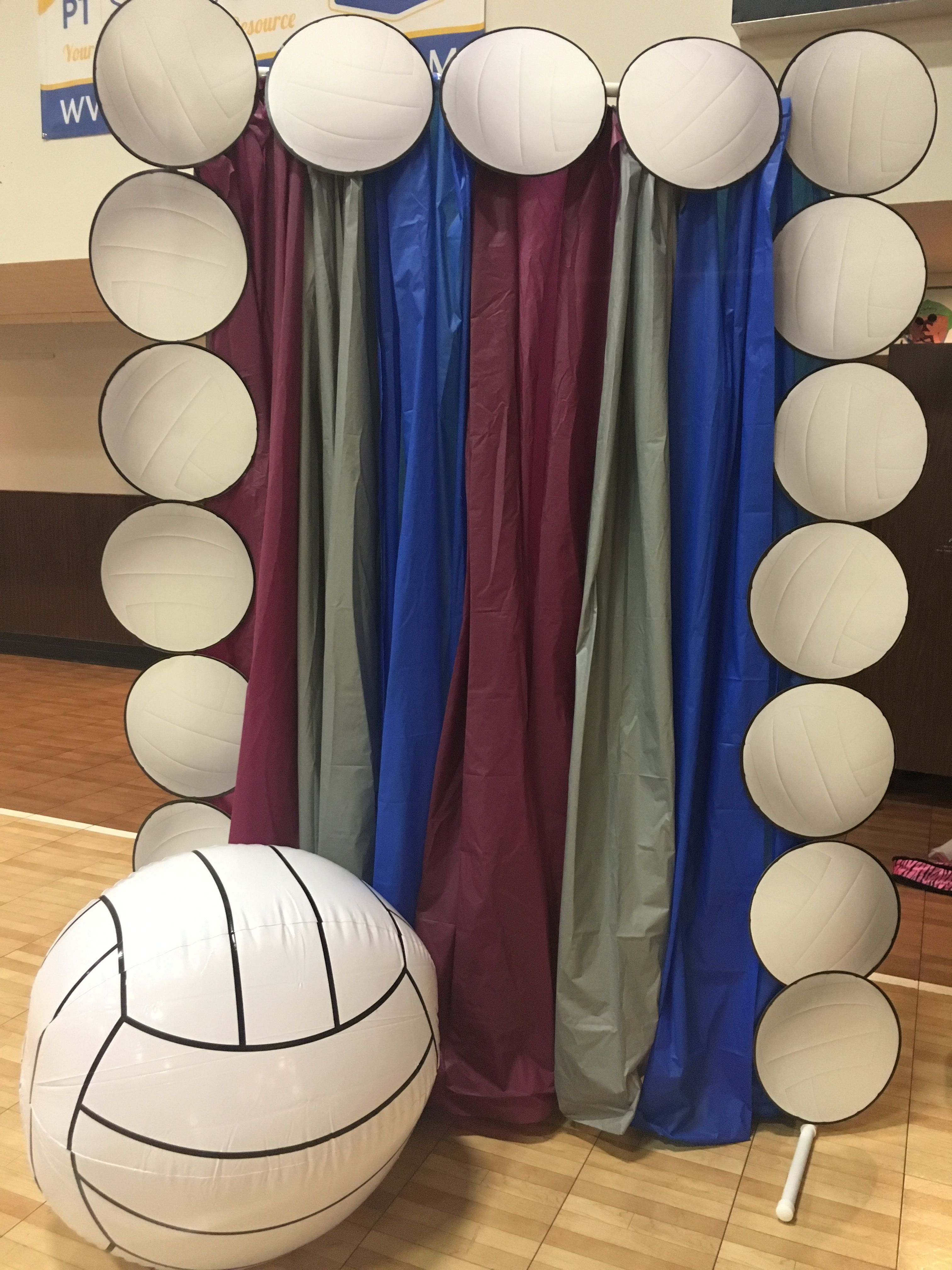 Volleyball Banquet Photo Booth Backdrop Volleyball Photos Volleyball Senior Night Photo Booth Backdrop