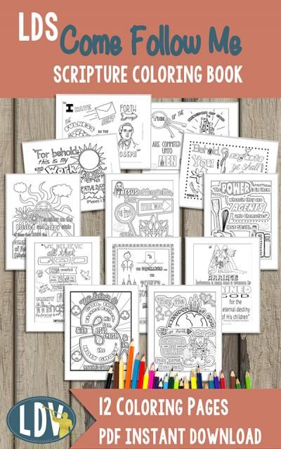 Come Follow Me - A Year of Coloring Pages - LatterdayVillage | SS ...
