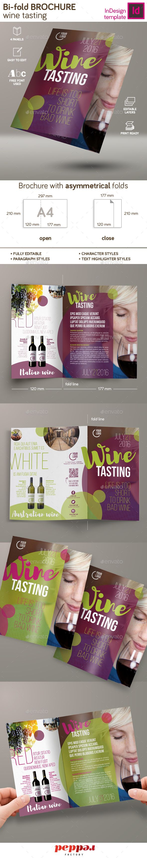Wine Tasting Bi-Fold Brochure | Folletos, Tutoriales y Cocinas
