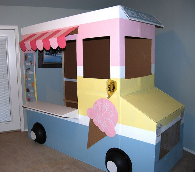Adorable Ice Cream Party And Home Made Ice Cream Truck