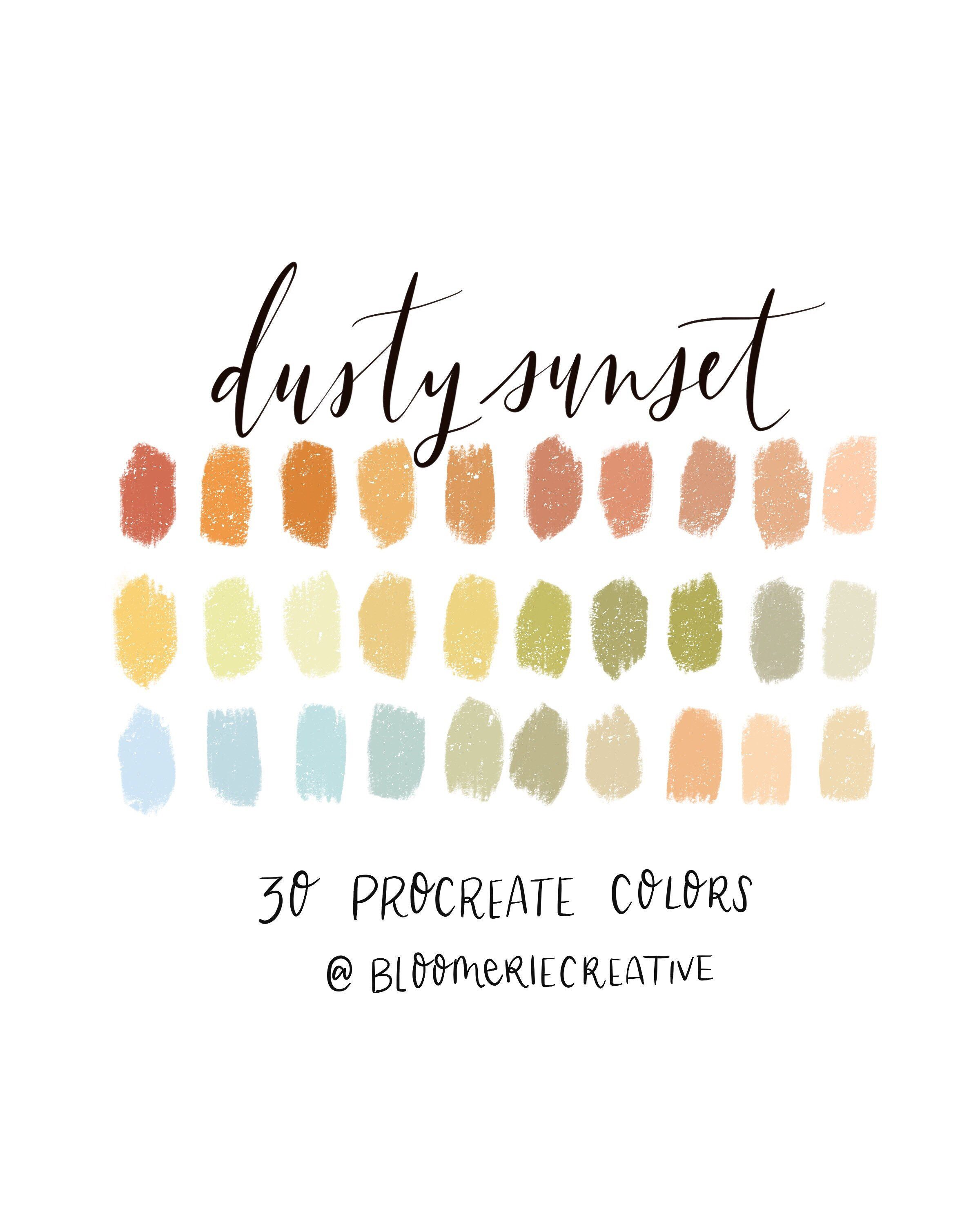Dusty Sunset / Autumn / Fall / Procreate color palette / Procreate swatches