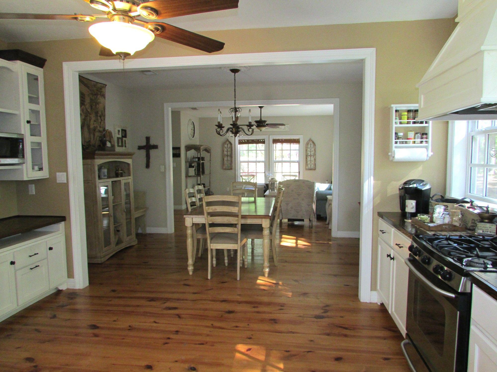 1st floor living dining foyer and kitchen open floor