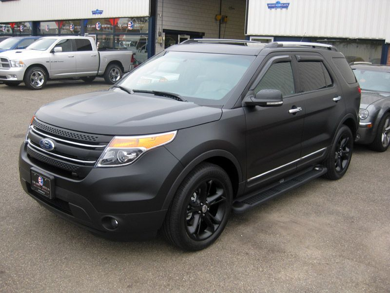 timelapse ford explorer 2011 matte black 3m carwrap - Ford Explorer 2012 Black