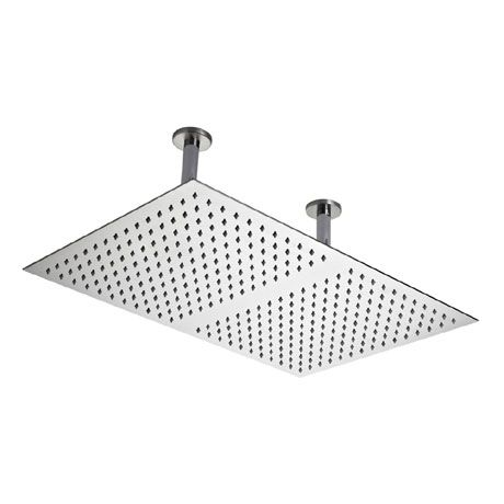 Hudson Reed Rectangular Dual Ceiling Mounted Shower Head Stainless Steel Head66 At Victorian Plumbing Uk Ceiling Mounted Shower Head Shower Heads Ceiling Shower Head