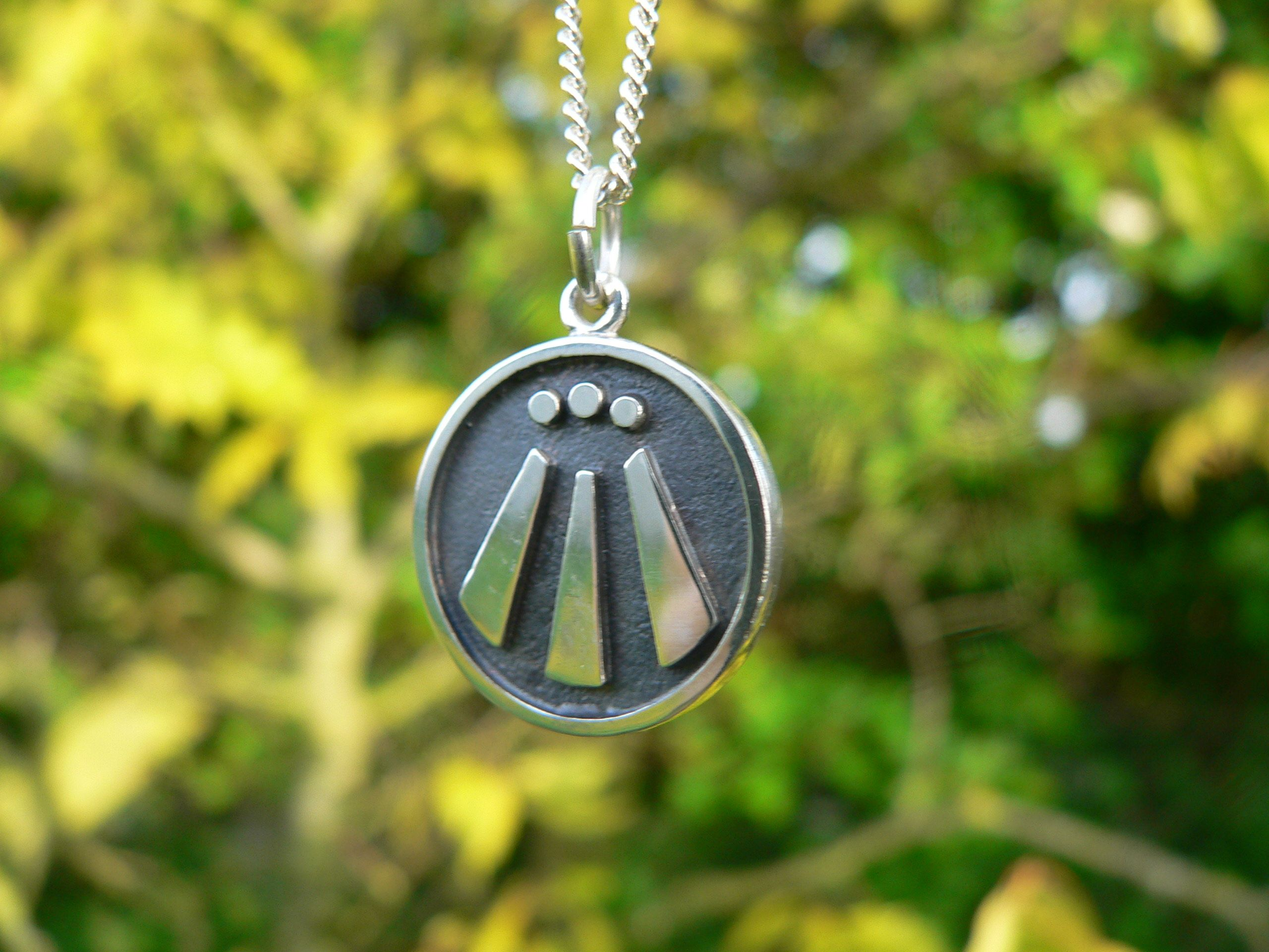Silver Awen Pendant The Druid Symbol Of Inspiration I Hand Finish