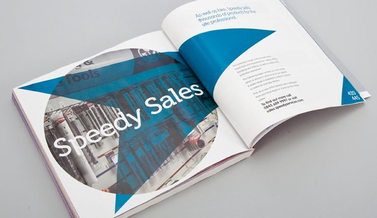 Catalogue production and artworking of the Speedy Trade Catalogue 2013