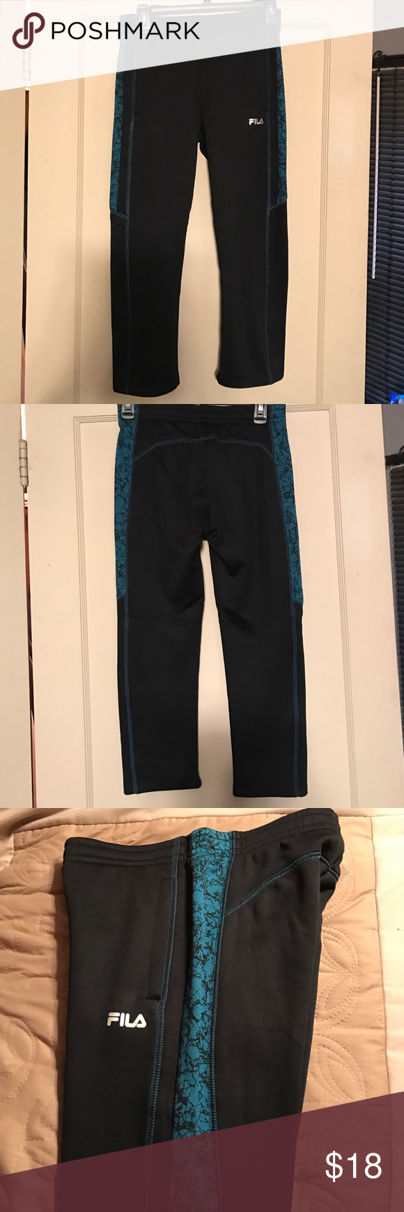 Fila pants NWT Boys Fila pants adjustable draw string waist Fila Bottoms Sweatpants & Joggers