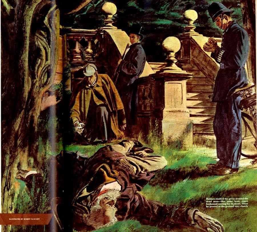 Robert Fawcett, The Adventure of the Demon Angels, in Sherlock Holmes.