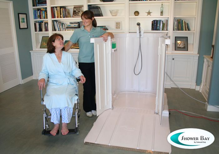 Shower Bay Portable Shower for Wheelchair Users-takes away the ...