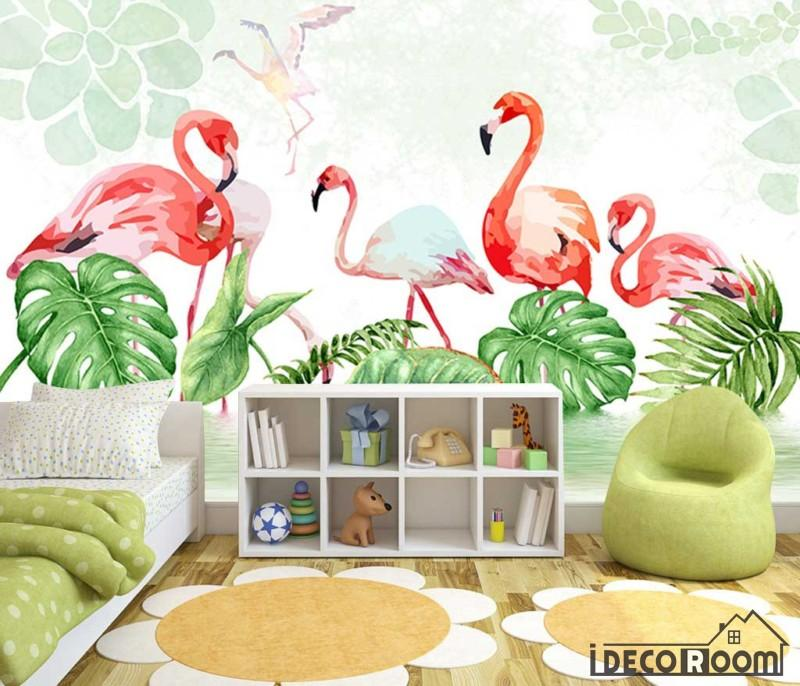 Nordic Tropical Plant Flamingo Bedroom wallpaper wall murals IDCWPHL000199 is part of bedroom Plants Tropical -  Superior Quality and Striking Color 100% Natural, Environmental and Breathable The images on the picture is for illustration purpose only, please refer to the actual size sheet  If you need custom size please contact us by Email,wall or ceiling wallpaper can be purchased separately   Please visit How to apply page before you purchase