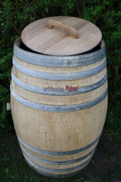 Récupérateur du0027eau 225 l - 300 l - Poignée bois - Baril de pluie - recuperation eau de pluie maison