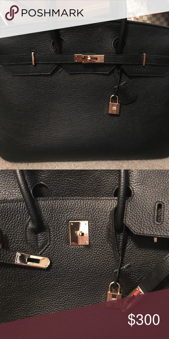 eb35cbdaa29 Hermès Birkin style bag No logo. all cowhide leather. 40cm Bags