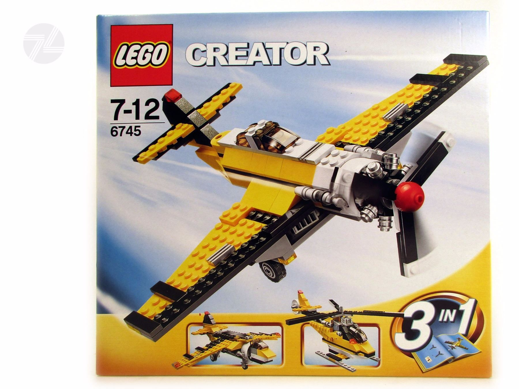 lego creator 6745 3 in 1 flugzeug ovp vintage. Black Bedroom Furniture Sets. Home Design Ideas