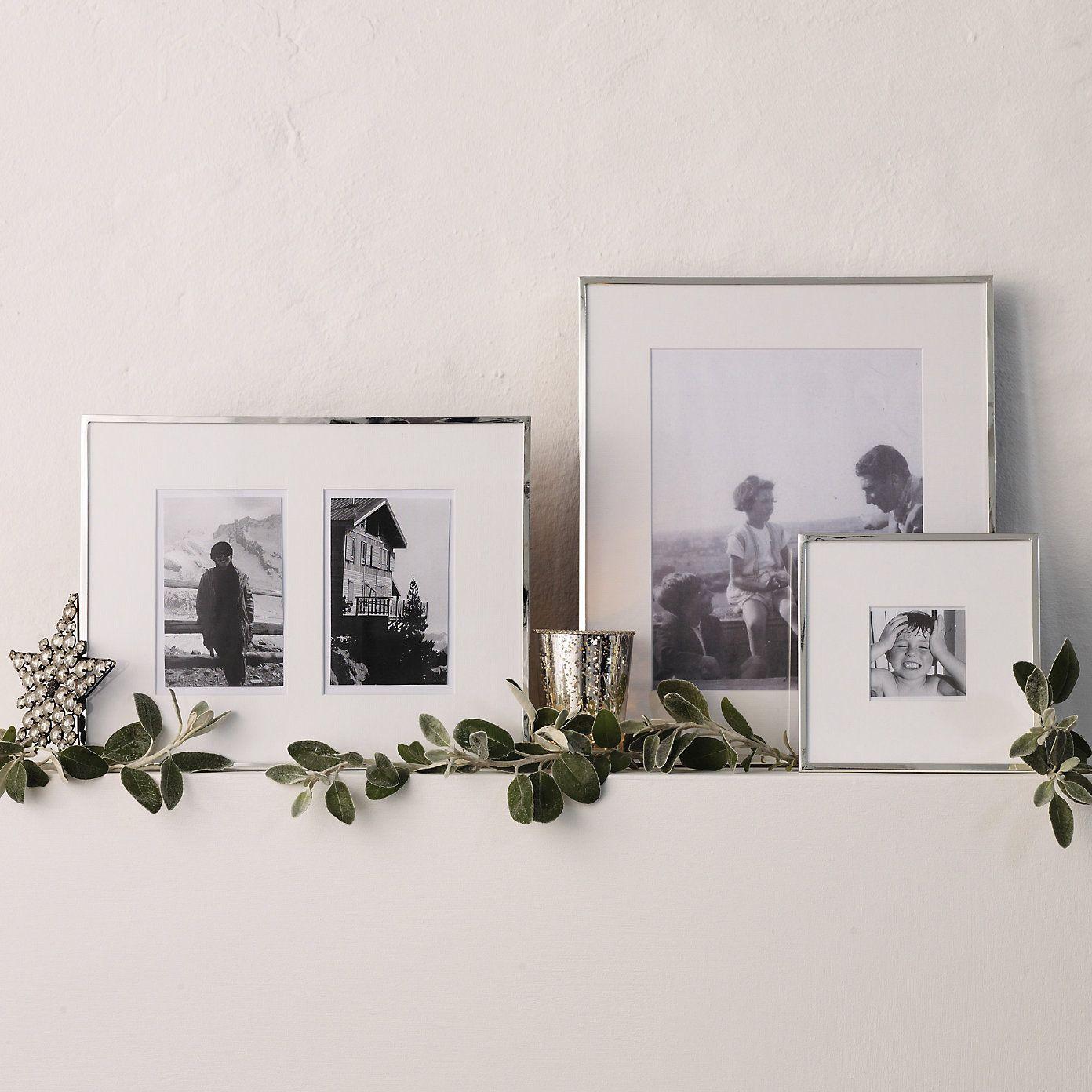 Fine Silver Frame 4x6 - Photo Frames   The White Company   decor ...