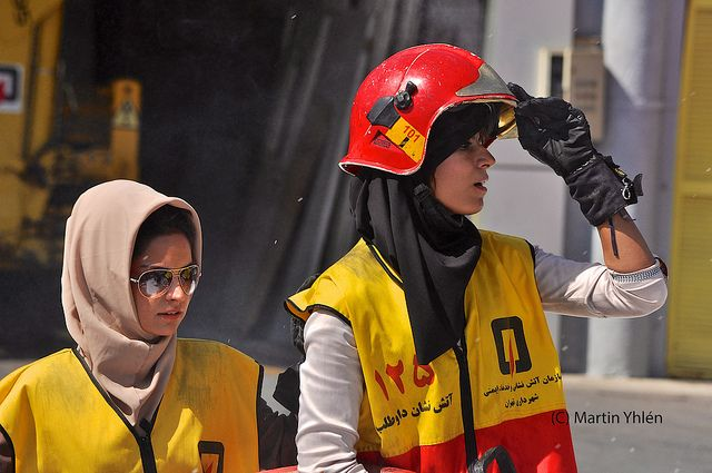 Iran, Tehran, Female Fire Fighter Volunteers by MY2200 ...