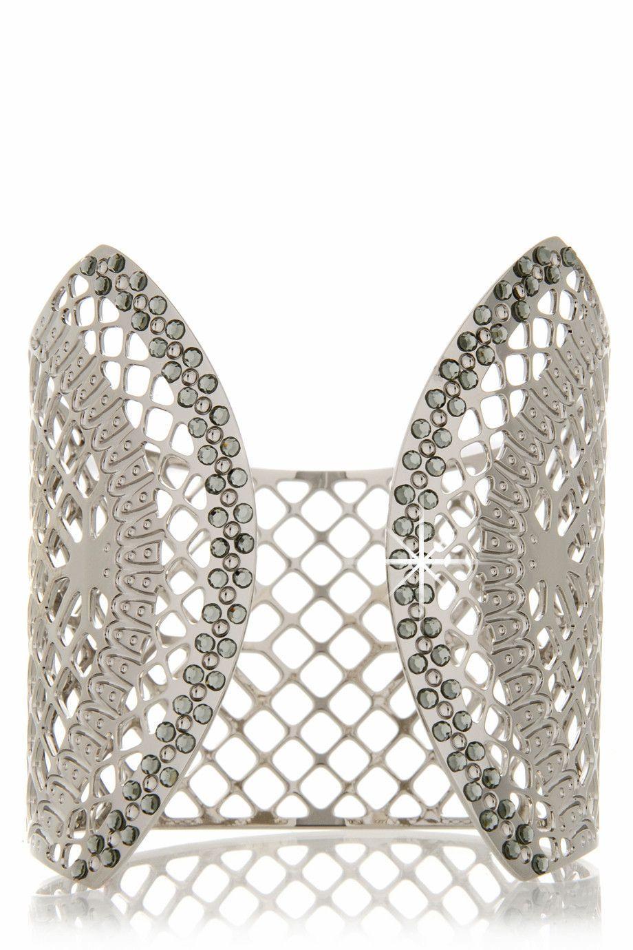 LK DESIGNS GWENORE Silver Lace Cuff