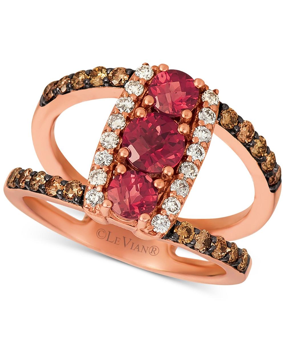 Le Vian Nude Diamond Ring 2-1/4 ct tw Round-cut 14K Honey