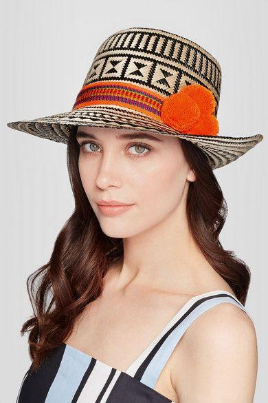 Yosuzi pompom straw hat