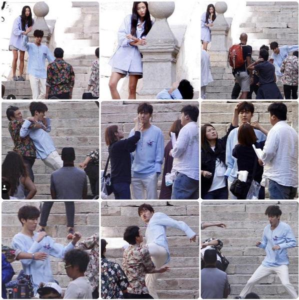 Lee Min Ho & Jun Ji Hyun Shooting in Spain Barcelona for