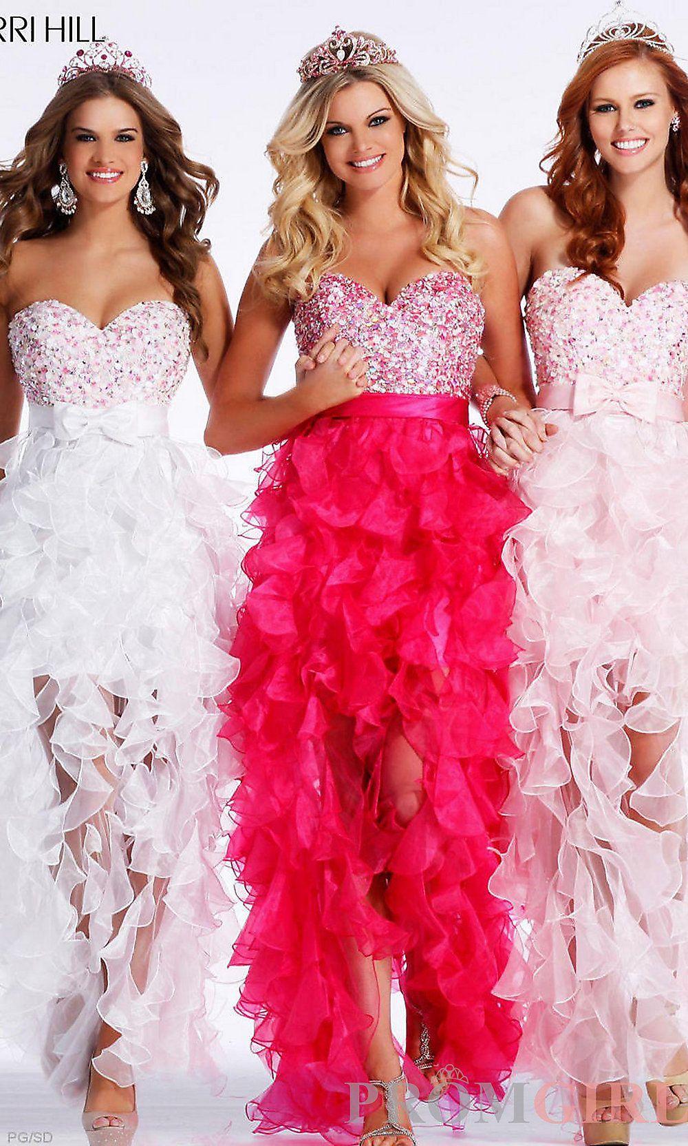 Sherri hill designer strapless homecoming dresses promgirl prom