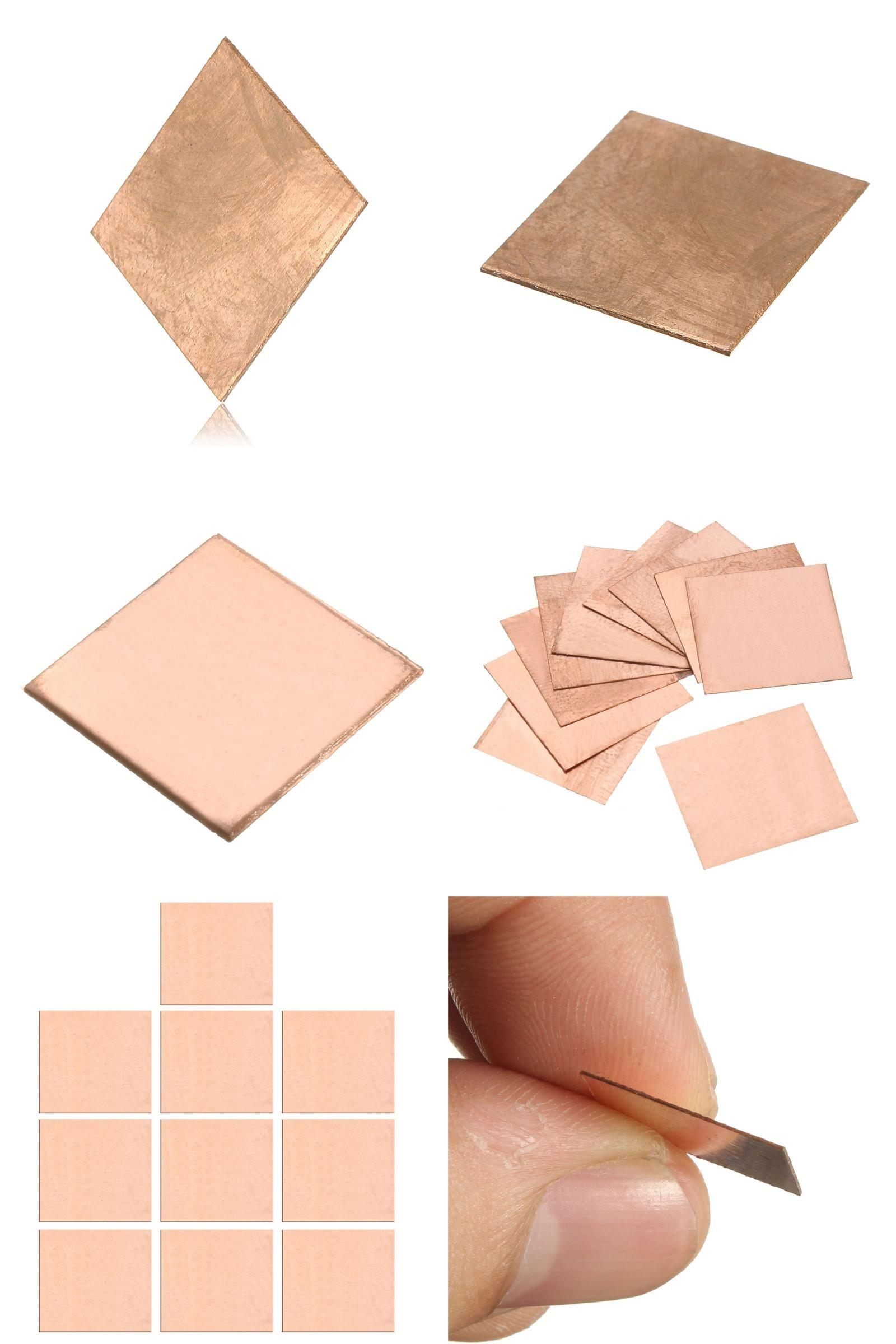 Visit To Buy 10pcs Laptop Copper Sheet Plate Strip Shim Thermal Pad Heatsink Sheet 0 1mm 0 3mm 0 5mm 0 8mm For Gpu Cpu Vga Chip Ra Copper Sheets Heatsink Vga