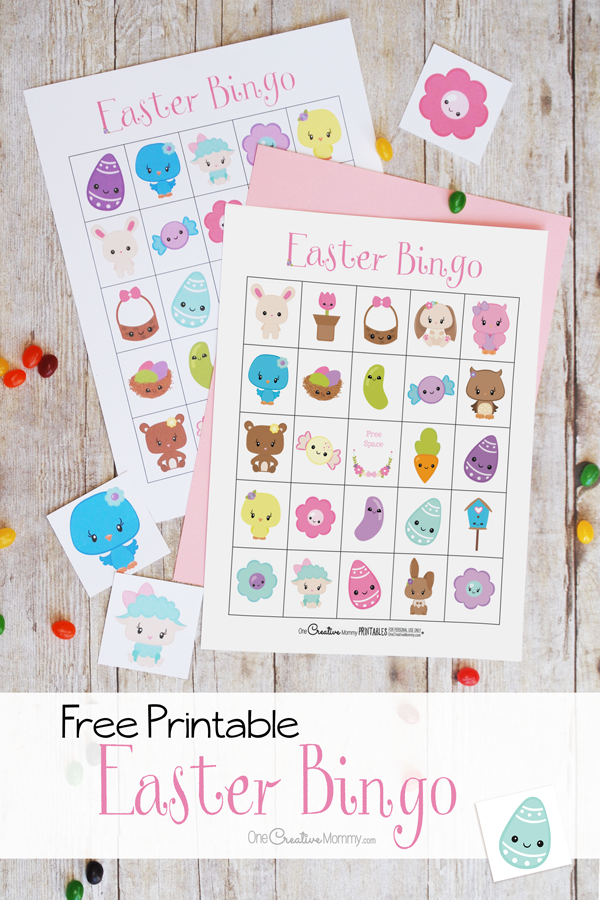 The cutest Easter Bingo game for your family | Pinterest