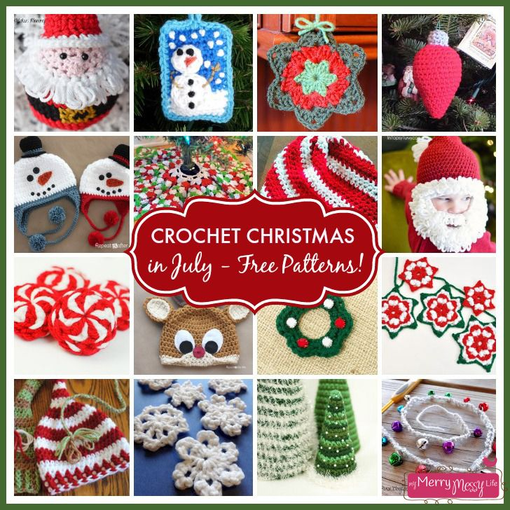 Crochet Christmas in July - A Collection of FREE Patterns! (Santa Hat & Diaper Cover)