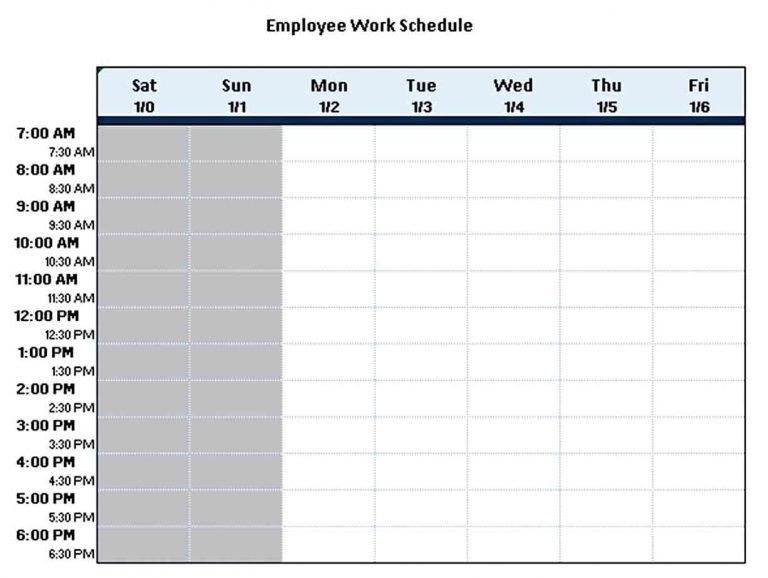 Preventive Maintenance Schedule Template