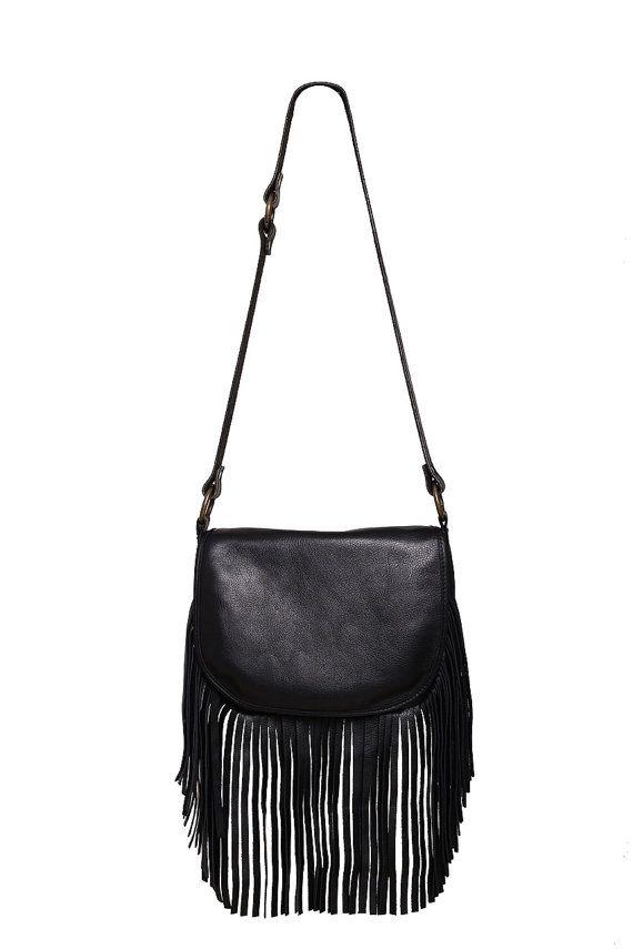 Black Fringe Handbag ef5bacf2da5b6