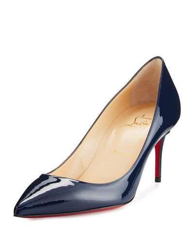 hot sale online cfaad 199db Decollete Patent 70mm Red Sole Pump Navy | Shoes Got | Pumps ...